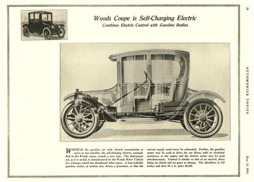 Picture of an electric part from a car that woods invented.