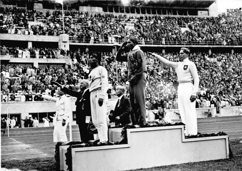 Jesse Owens at the Olympics in Berlin